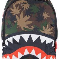 The Weed Shark Madzilla Collab Backpack in Camo