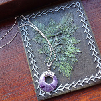 Ametrine silver pendant necklace
