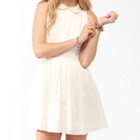 Pleated Pearlescent Collar Dress