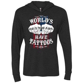 World's Best Dads Have Tattoos US Flag Men's Shirts