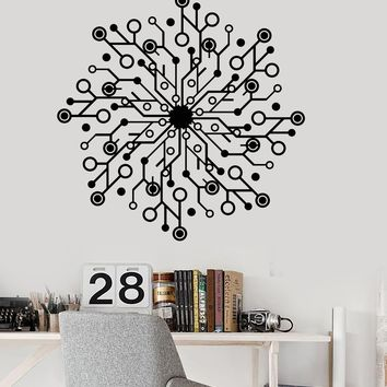 Vinyl Wall Decal Computer Chip Geek IT Hardware Decor Stickers Mural Unique Gift (ig3421)