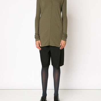 Rick Owens Drkshdw | Long Sleeve V-Neck Tee