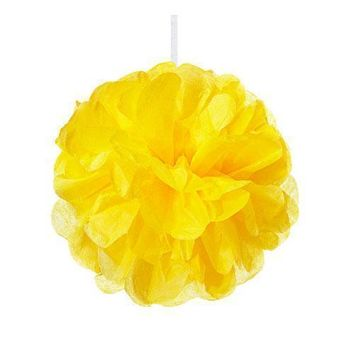 Mini Paper Pom Pom - Sunflower (Pack of 1)