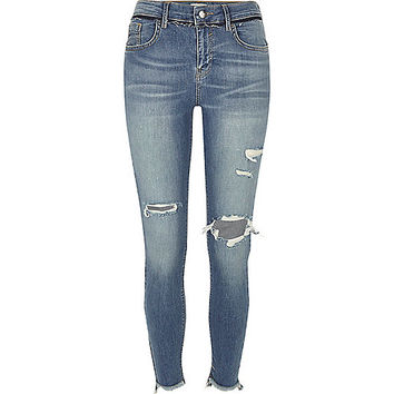 Blue wash super skinny Amelie jeans