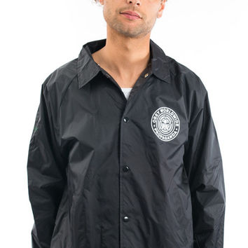 OBEY, Obey Worldwide Seal Coaches Jacket - Black