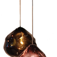 happy kiss glass pendants, available in 7 colors - ABC Carpet & Home