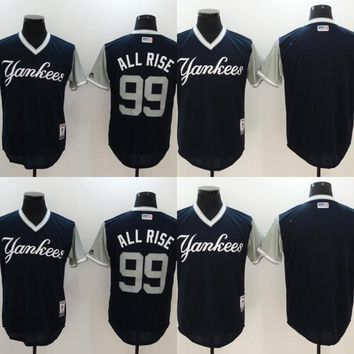 45d0cc175 Mens 99 Aaron Judge All Rise New York Yankees Jersey 2017 Players Weekend  Blank 24 Gary