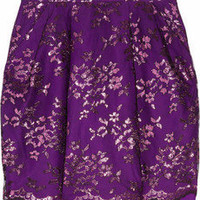 Matthew Williamson Metallic lace skirt - 65% Off Now at THE OUTNET