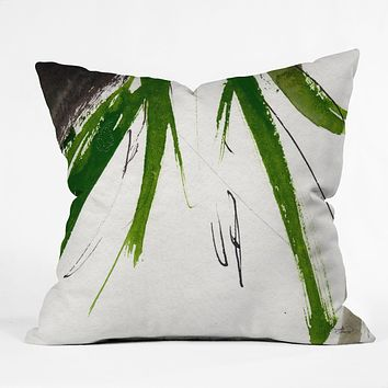 Ginette Fine Art Green Souls 2 Outdoor Throw Pillow