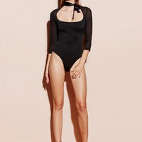Neck Tie Scoop Bodysuit