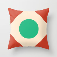 Red Peak Throw Pillow by spaceandlines