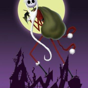 Nightmare Before Christmas movie poster Small Metal Print 8in x 12in