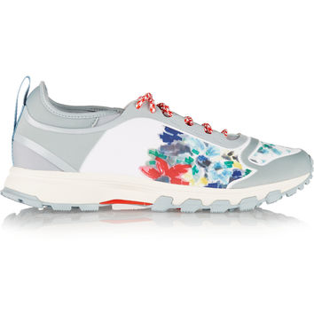 Adidas by Stella McCartney - Adizero XT printed neoprene sneakers
