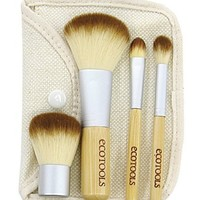 Beauty Supplies: Ecotools Eqo-friendly Bamboo Beauty Pro Makeup Brush Sets Kit Travel Size Mineral Powder Brush Concealer Brush Eye Shading Brush Kabuki Brush Bag Pouch Eyebrow Moustache Trimmer/brush Scissors with Removable Detachable Grooming Comb