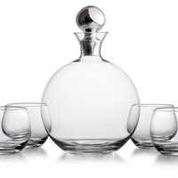 5-Pc Wine/Whiskey Set, Cordial, Liqueur & Brandy