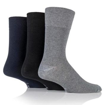 Non Binding Socks for Men or Women in Charcoal, Navy & Black