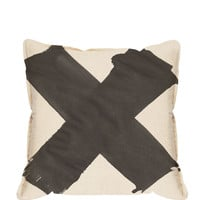 X Pillow Cover - Black
