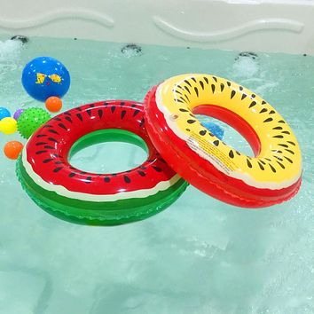 Summer Fruit Pattern swimming circle For Baby Swimming Pool Accessories PVC inflatable watermelon Children Kids Swim Ring