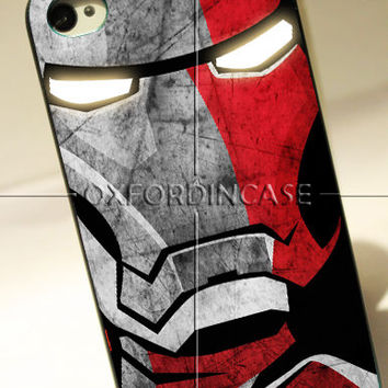 Iron Man Face Cover - for iPhone 4/4S case iPhone 5 case Samsung Galaxy S2/S3/S4 case hard case