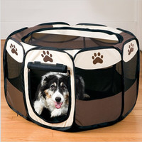 Dog Supplies Pet Bed Kennel Dog House USA Pet Tent Pens Folding Cage Oxford Fabric Steel Frame Dog Cage