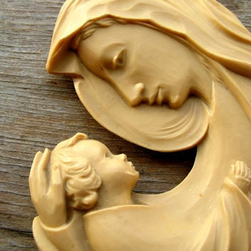 Madonna and Child Figurine - Mary Figurine - Religious Statue