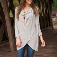 Thank Me Layer Top, Taupe