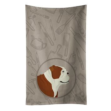 English Bulldog In the Kitchen Kitchen Towel CK2183KTWL