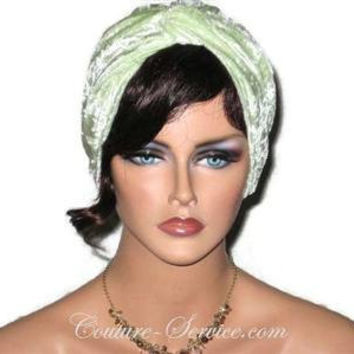 Handmade Green Turban, Velour