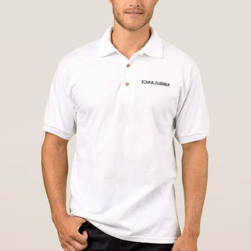 Ambulance - mirrored text polo shirt