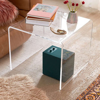 Miotto Acrylic Curve Side Table | Urban Outfitters
