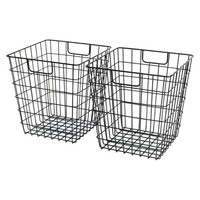 Room Essentials™ Wire Decorative Basket Set of 2 - Black