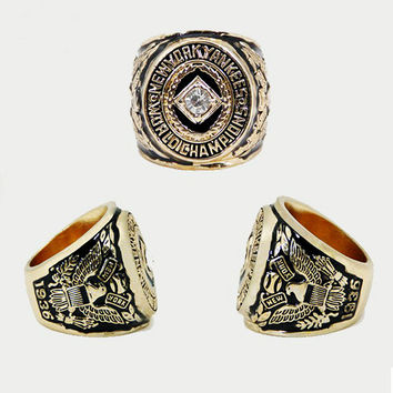 Father's Day Gifts Fashion Sport Jewelry 1936 NY World Series Championship Ring For Men, Cu