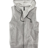 Sleeveless Sweatshirt Jacket - from H&M