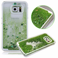 Green Glitter Quicksand Case for Samsung Galaxy S6 S 6