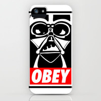 Obey Darth Vader - Star Wars iPhone Case by Yiannis Telemachou