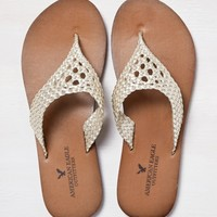 AEO CROCHET LEATHER FLIP FLOP