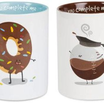 Donut & Coffee Couple's Mug Set