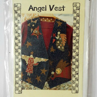 Angel Vest Sewing Pattern Prairie Clothing 130 Womens XS S M L Vintage New