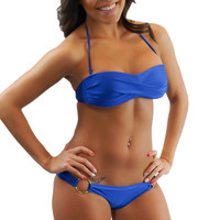 Navy Blue push up bikini