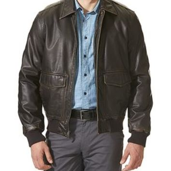 Dockers Aviator Bomber - Brown - Men's