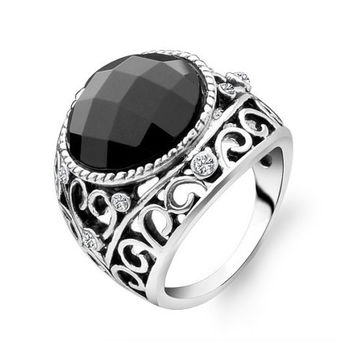 Black Onyx woman promise ring - woman Wedding Ring - woman Promise Ring - woman Engagement Ring - the ring woman