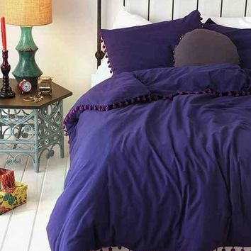 Magical Thinking Pom Fringe Duvet