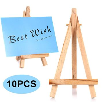 10pcs Mini Wooden Easels Cafe Table Number Easel Practical Place Name Holder Multifunction Stand 88 BM88