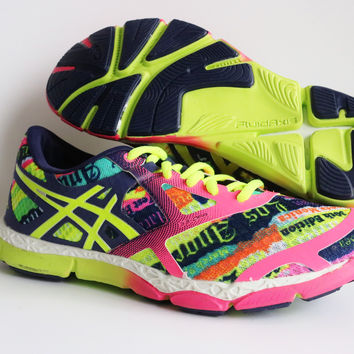 Asics Womens LA Marathon 33-DFA Mesh Athletic Cross Training Running Shoes Size 7