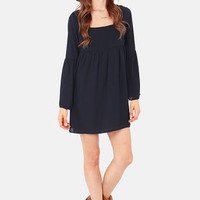 Babydoll or Nothing Navy Blue Dress