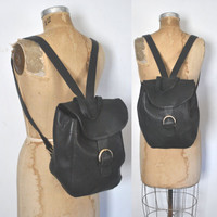 COACH Backpack Bookbag / black Leather bag