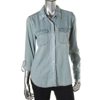 Koral Womens Cotton Long Slleves Denim Shirt