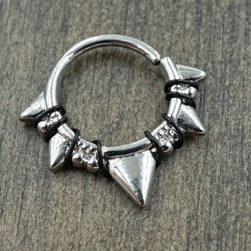 Triangle Daith Rook Cartilage Hoop