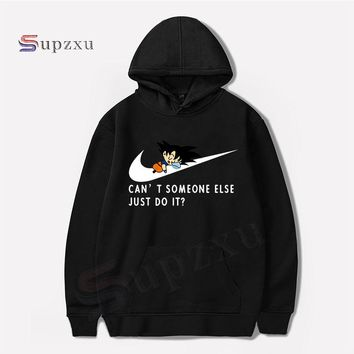 2018 Men's Women Funny Animation Dragon Ball Z Wukong Hoodie JUST DO IT letter printing Hoodies Men Hip Hop Sportswear Clothing
