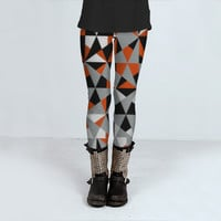 Geometrical Funky Retro Style Pattern by Flirting With Fashion (Leggings)